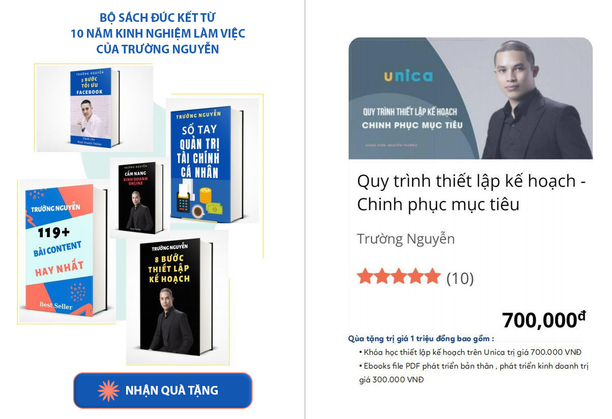 Tổng hợp những quyển sách hay nhất : Những quyển sách đúc kết trong hơn 10 năm làm việc của Trường Nguyễn.<br>Click để nhận ngay quà tặng